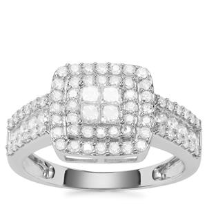 Diamond Ring in 9K White Gold 1ct