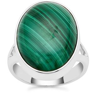 Malachite Ring in Sterling Silver 14.38cts