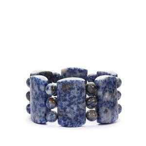 Blue Jasper Stretchable Bracelet 666cts