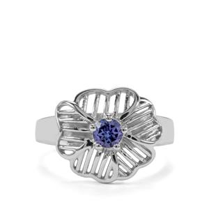 0.32ct AA Tanzanite Sterling Silver Ring