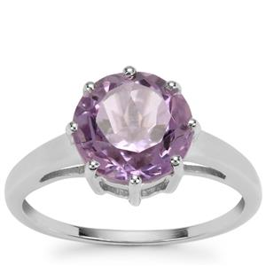 Rose De France Amethyst Ring in Sterling Silver 2.66cts