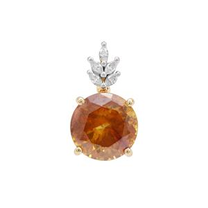 Sphalerite Pendant with Diamond in 18K Gold 7.92cts