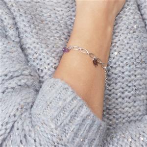 Kaleidoscope Gemstone in Sterling Silver Bracelet 10.61cts