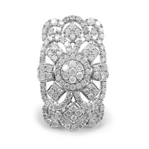 5.15ct Diamond Sterling Silver Ring