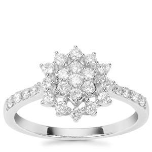 Diamond Ring in Platinum 950 0.53ct