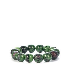 Ruby-Zoisite Elastic Bracelet 307cts