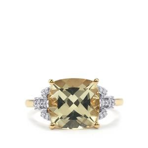 Serenite & Diamond 18K Gold Tomas Rae Ring MTGW 3.53cts