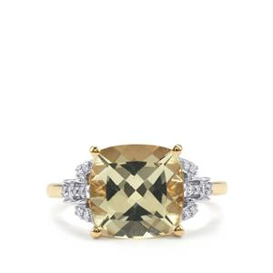 Serenite Ring with Diamond in 18K Gold 3.53cts