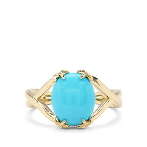 2.81ct Sleeping Beauty Turquoise 9K Gold Ring