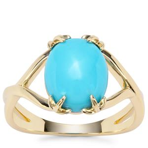 Sleeping Beauty Turquoise Ring in 9K Gold 2.81cts