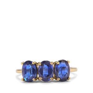 3ct Daha Kyanite 9K Gold Ring