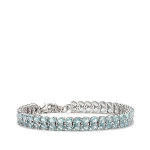 Ratanakiri Blue Zircon Bracelet in Sterling Silver 20cts