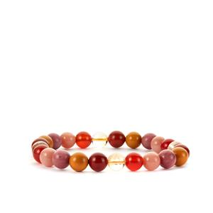 Multi-colour Gemstone Elastic Bracelet 85cts