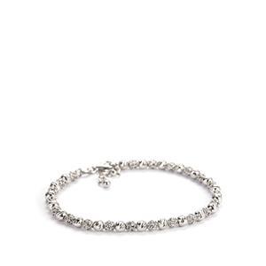 Sterling Silver Altro Italiano Beaded Bracelet 4.77g