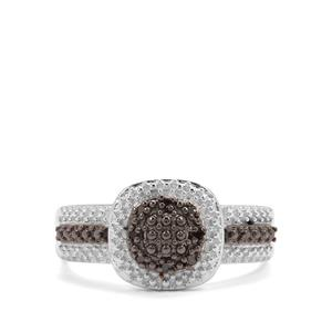 Red Diamond Sterling Silver Ring