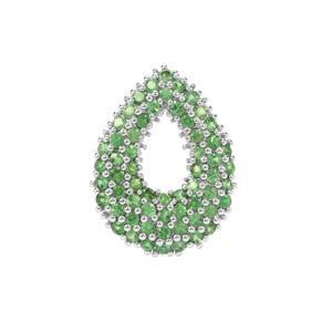 Tsavorite Garnet Pendant in Sterling Silver 2.38cts
