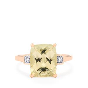 Serenite Ring with Diamond in 10K Rose Gold 3.81cts