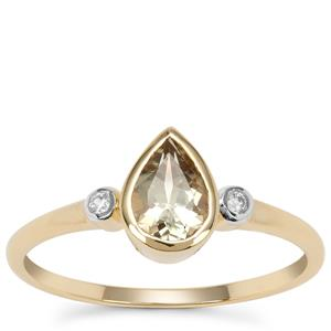 Csarite® Ring with White Zircon in 9K Gold 0.75ct