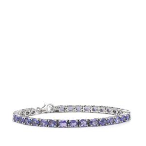 AA Tanzanite Bracelet in Sterling Silver 9.87cts