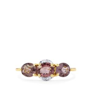 Burmese Spinel & Diamond 9K Gold Ring ATGW 2.03cts
