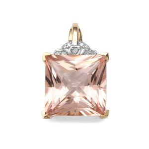 Galileia Topaz Pendant with Diamond in 9K Gold 9.67cts