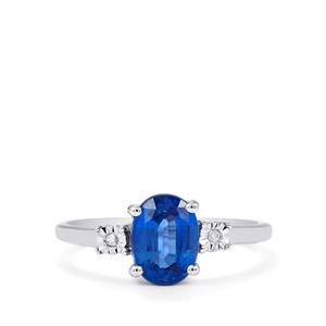 Daha Kyanite Ring with Diamond in Sterling Silver 1.55cts