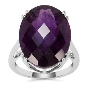 Zambian Amethyst Ring in Sterling Silver 15.62cts