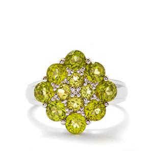 3.14cts Changbai Peridot Sterling Silver Ring