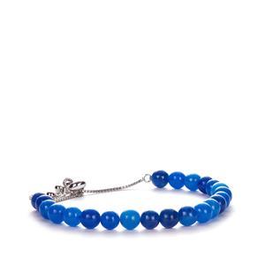 Blue Jade Slider Bracelet in Sterling Silver 41cts