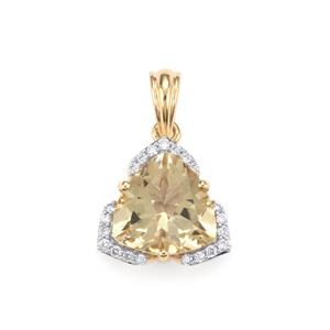 Serenite & Diamond 18K Gold Tomas Rae Pendant MTGW 3.07cts