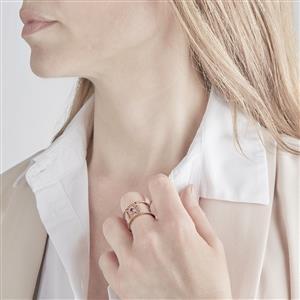 Amethyst Ring in Rose Gold Vermeil 0.09ct