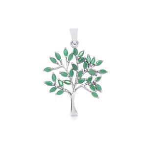 Carnaiba Brazilian Emerald Pendant in Sterling Silver 2.40cts