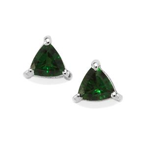 0.41ct Chrome Tourmaline Sterling Silver Earrings