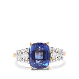 Nilamani & Diamond 18K Gold Lorique Ring MTGW 4.35cts