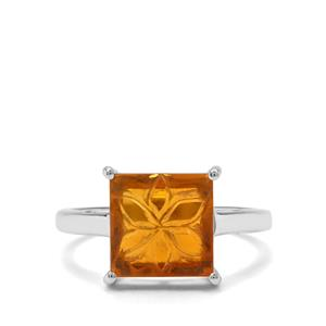 2.39ct American Fire Opal Sterling Silver Ring
