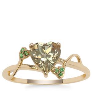 Csarite® Ring with Tsavorite Garnet in 9K Gold 1.31cts
