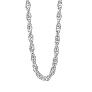 """18"""" Sterling Silver Tempo Rope Chain 2.19g"""