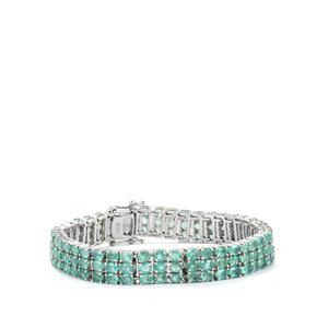 Zambian Emerald Bracelet in Sterling Silver 20.24cts