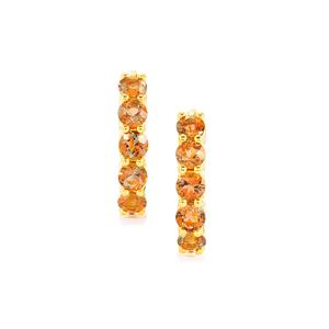 1.79ct Gouveia Andalusite Gold Vermeil Earrings