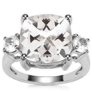 8.48ct White Topaz Sterling Silver Iconic Ring