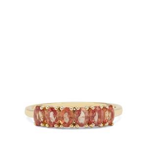 1.48ct Tanzanian Sunset Sapphire 9K Gold Ring
