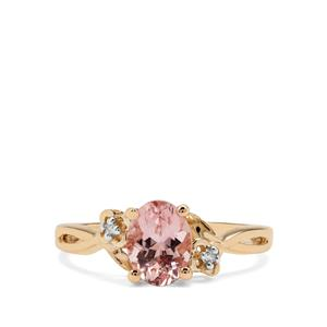 Cherry Blossom™ Morganite Ring with Diamond in 9K Rose Gold 1.13cts