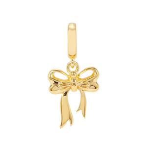 Bow Kama Charms in Gold Plated Sterling Silver