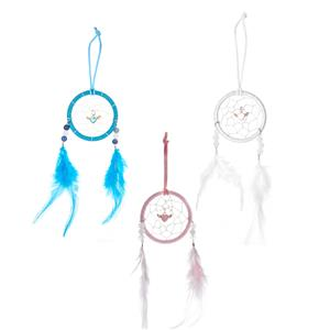 Gem Auras Guardian Angel Dream Catcher with Gemstones - .01=PINK / .02=BLUE / .03=WHITE