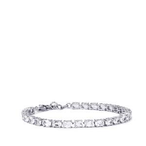 White Topaz Bracelet in Sterling Silver 14.09cts