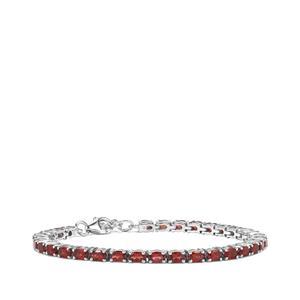 9.26ct Rajasthan Garnet Sterling Silver Bracelet