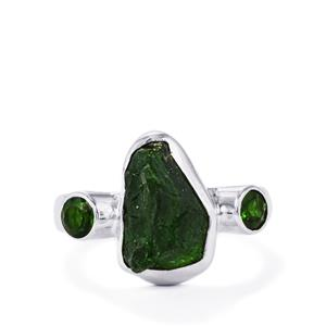 4.48ct Chrome Diopside Sterling Silver Ring