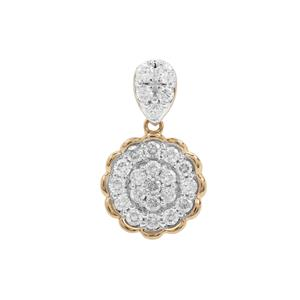Canadian Diamond Pendant in 9K Gold 0.76ct