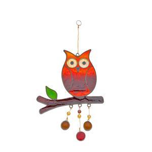 Owl On A Branch Suncatcher