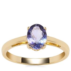 AA Tanzanite Ring in 9K Gold 1.05cts